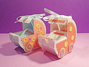 Колясочка – подарочная коробочка для денег | Ярмарка Мастеров - ручная работа, handmade