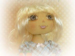 Рисуем глаза текстильной кукле.. Ярмарка Мастеров - ручная работа, handmade.
