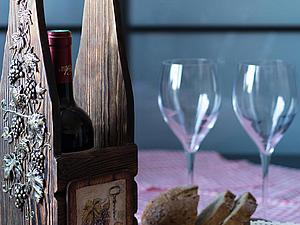 Мастер-класс: декорируем винный короб «Виноградная лоза» | Ярмарка Мастеров - ручная работа, handmade