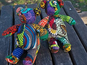 Kumanokoido - мишки Тедди из африканских тканей   Ярмарка Мастеров - ручная работа, handmade