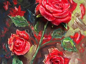 Объемная картина «Розы.. в моем саду» | Ярмарка Мастеров - ручная работа, handmade