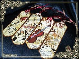 Музыкальные закладки. Ярмарка Мастеров - ручная работа, handmade.
