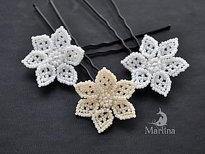 Мастер-класс: цветы из бисера в прическу невесте. Ярмарка Мастеров - ручная работа, handmade.