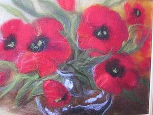 Мастер-класс от Елены Чевтайкиной - тема  Картина из шерсти