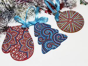 Мастер-класс по точечной росписи новогодних подвесок. Ярмарка Мастеров - ручная работа, handmade.