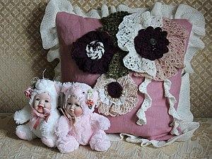 Подушка в стиле бохо. Ярмарка Мастеров - ручная работа, handmade.