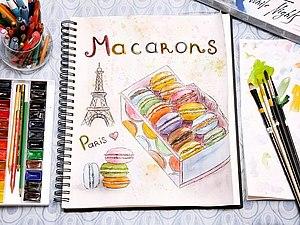 Macarons, или Всем влюбленным в Париж посвящается   Ярмарка Мастеров - ручная работа, handmade