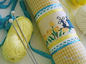 Голландский тубус для хранения вышивки, выкроек, рисунков, спиц, крючков и т.п. | Ярмарка Мастеров - ручная работа, handmade