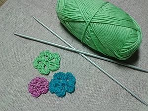 Ажурный цветочек спицами | Ярмарка Мастеров - ручная работа, handmade