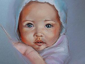 Рисуем пастелью: чудесный портрет малыша. Ярмарка Мастеров - ручная работа, handmade.