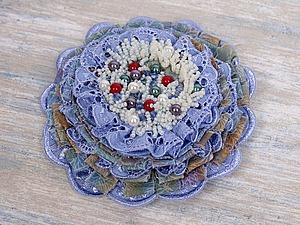 Текстильная брошь. | Ярмарка Мастеров - ручная работа, handmade