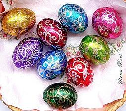 Мастер-класс: декорирование пасхальных яиц. Ярмарка Мастеров - ручная работа, handmade.