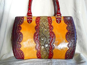Курс по изготовлению сумок из кожи: сумка прямоугольной формы   Ярмарка Мастеров - ручная работа, handmade