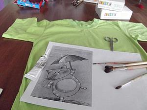 Мастер-класс: забавная футболка. Ярмарка Мастеров - ручная работа, handmade.