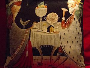 Королевская подушка.   Ярмарка Мастеров - ручная работа, handmade