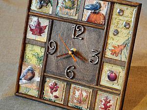 Мастер-класс: декорирование часов «Золотая осень» | Ярмарка Мастеров - ручная работа, handmade