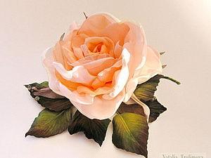 Роза на веточке | Ярмарка Мастеров - ручная работа, handmade