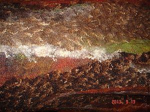 Юбка из флиса с  декором из шёлковых волокон | Ярмарка Мастеров - ручная работа, handmade