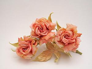Шелковая флористика. МК японская Роза | Ярмарка Мастеров - ручная работа, handmade
