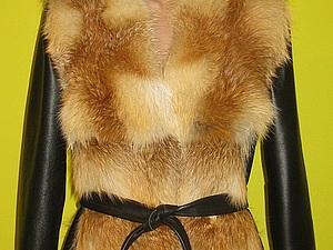 Меховой жилет из натурального лисьего меха | Ярмарка Мастеров - ручная работа, handmade