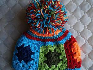 Вязание шапочки из остатков пряжи, или
