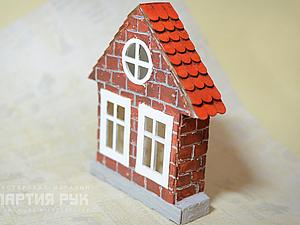 Декор домика - кирпич и черепица. Ярмарка Мастеров - ручная работа, handmade.