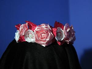 Розы и листья с прожилками из ткани без инструментов   Ярмарка Мастеров - ручная работа, handmade