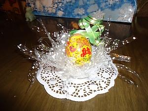 Воздушная подставка под пасхальные яйца. Ярмарка Мастеров - ручная работа, handmade.