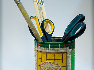 Мастер-класс по декорированию металлической банки.. Ярмарка Мастеров - ручная работа, handmade.