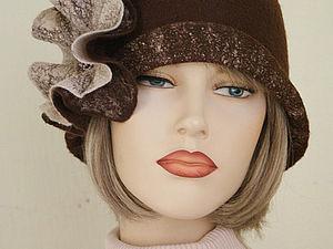 Мастер-класс по валянию шляпки-клош с цельноваляным элементом в Омске. | Ярмарка Мастеров - ручная работа, handmade