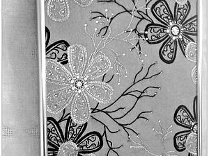 Серебряная вязь. Вышитая картина на фетре, инкрустирована стразами. | Ярмарка Мастеров - ручная работа, handmade