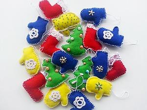 Мастерим елочные игрушки из фетра. Ярмарка Мастеров - ручная работа, handmade.