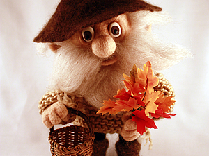 Войлочная кукла на каркасе | Ярмарка Мастеров - ручная работа, handmade