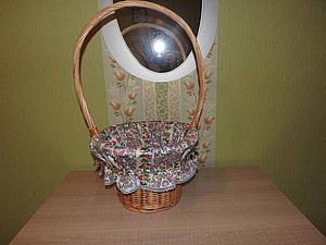 Простое решение, или Как украсить плетеную корзинку. Ярмарка Мастеров - ручная работа, handmade.