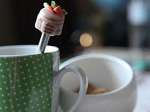 Мастер-класс: ложечка с тортиком для кофемана. Ярмарка Мастеров - ручная работа, handmade.