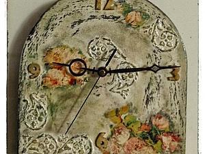 часы в стиле Шебби | Ярмарка Мастеров - ручная работа, handmade