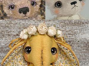 Мастер-класс по оформлению и росписи глазок для мишек Тедди   Ярмарка Мастеров - ручная работа, handmade