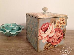 Видео мастер-класс Аллы Мавриной: декор коробочки, декупаж тканью. Ярмарка Мастеров - ручная работа, handmade.