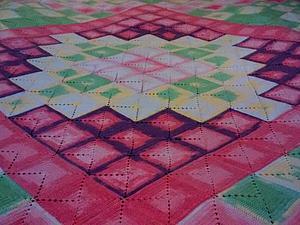 Вязание крючком: детское одеяло из квадратов | Ярмарка Мастеров - ручная работа, handmade