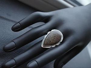 Аукцион!!!Кольцо из серебра 925 пробы с настоящей костью динозавра! | Ярмарка Мастеров - ручная работа, handmade