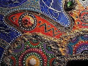 Декоративное панно «Зеркальная черепаха». Смешанная техника. Ярмарка Мастеров - ручная работа, handmade.