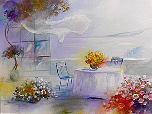 «Прохладное утро»: пишем картину акриловыми красками. Ярмарка Мастеров - ручная работа, handmade.