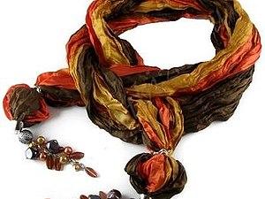 Как можно украсить косынки,шарфики,платочки с помощью фурнитуры.   Ярмарка Мастеров - ручная работа, handmade