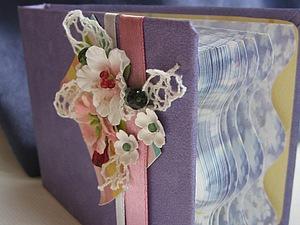 Скрап-блокнот из готового бумажного блока. Ярмарка Мастеров - ручная работа, handmade.