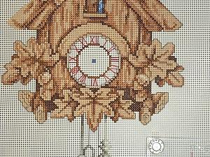 Ходики с кукушкой - процесс вышивки | Ярмарка Мастеров - ручная работа, handmade