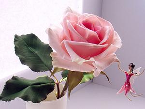 Лепка цветочной феи из полимерной глины. Ярмарка Мастеров - ручная работа, handmade.