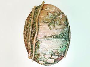 Панно «Лесное озеро» своими руками. Ярмарка Мастеров - ручная работа, handmade.