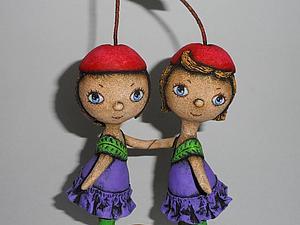 Новая работа в магазине: Вишенки-сестрички! (папье-маше) | Ярмарка Мастеров - ручная работа, handmade