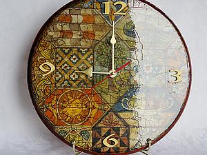 Часы моей мечты в технике декупаж | Ярмарка Мастеров - ручная работа, handmade