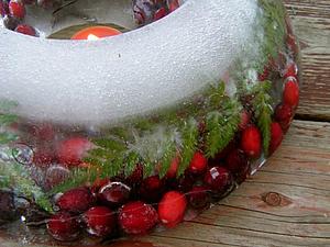 Зимние ягоды — новогодний декор в ярких тонах | Ярмарка Мастеров - ручная работа, handmade